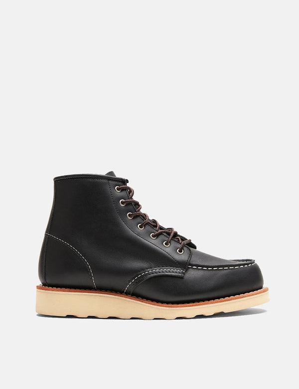 "Women's Red Wing Heritage Work 6"" Moc Toe Bootss (3373) - Black Boundary"
