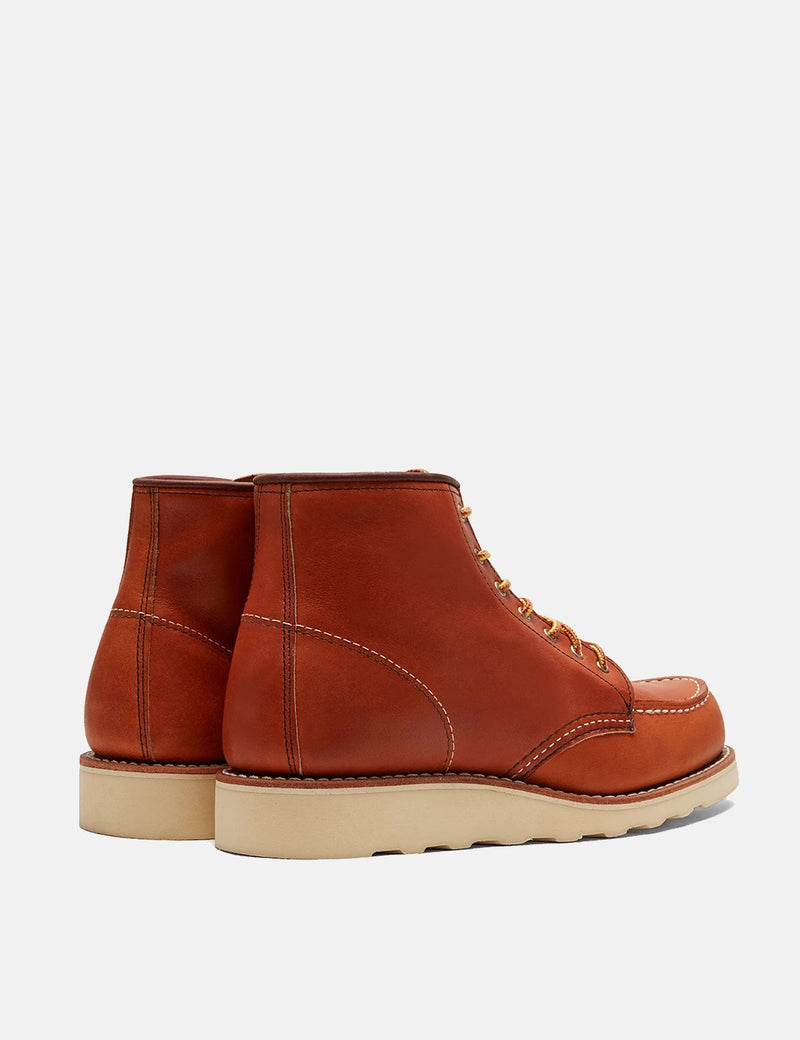 "Women's Red Wing Heritage Work 6"" Moc Toe Bootss (3375) - Tan Oro Legacy"