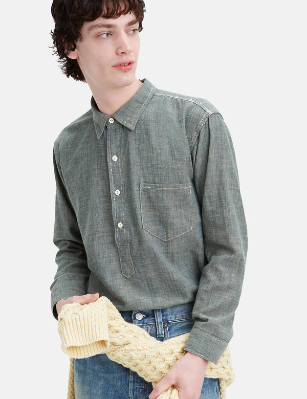 Levis Vintage Clothing Sunset Chambray Shirt - New Chambray Blue