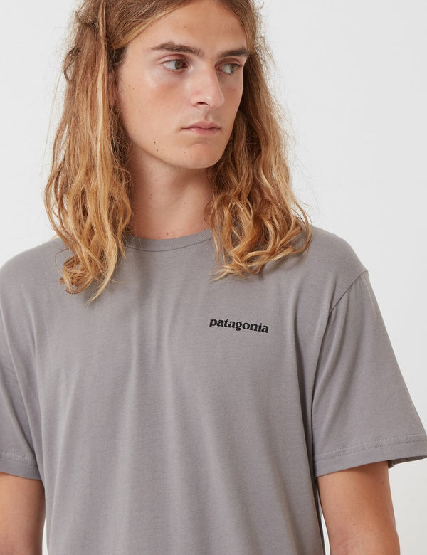 Patagonia P6 Logo Organic T-Shirt - Feather Grey