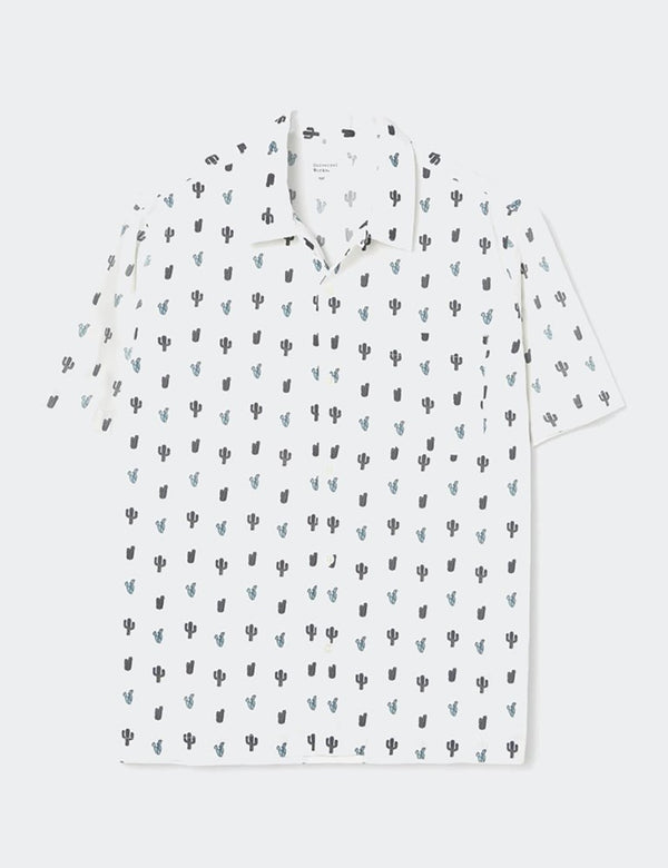Universal Works Cactus Print Road Shirt - Weiß