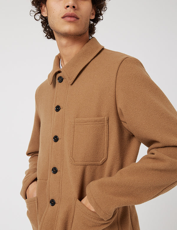 Vetra Workwear Soft Melton Wool Jacket - Camel