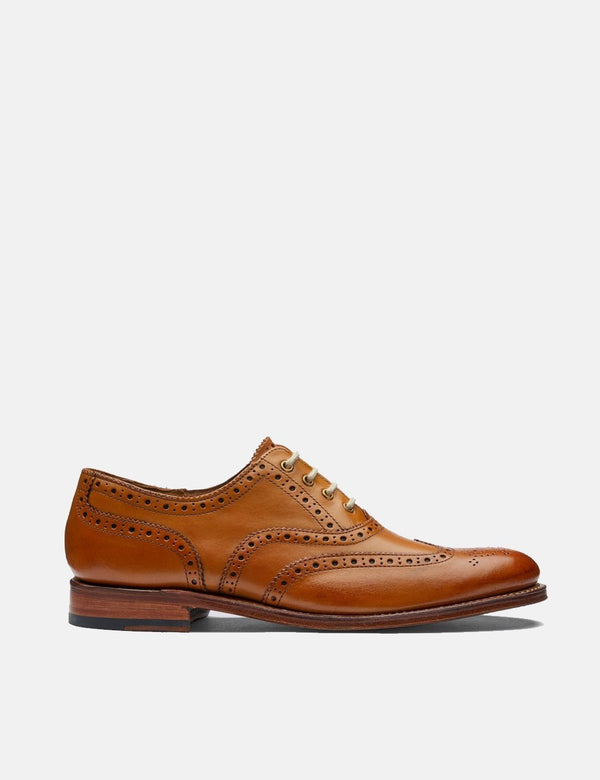 Womens Grenson Martha Brogue Shoes (Leather) - Tan