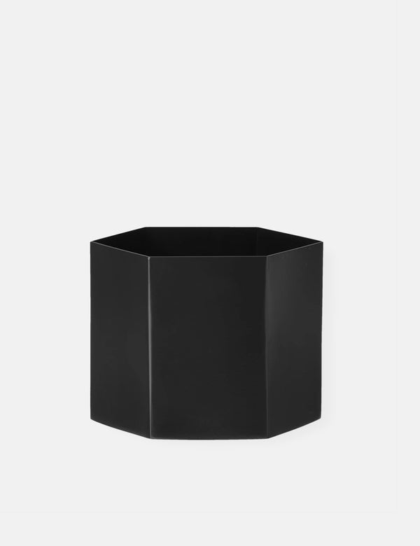 Ferm Living Pot Hexagon Extra Large - Noir