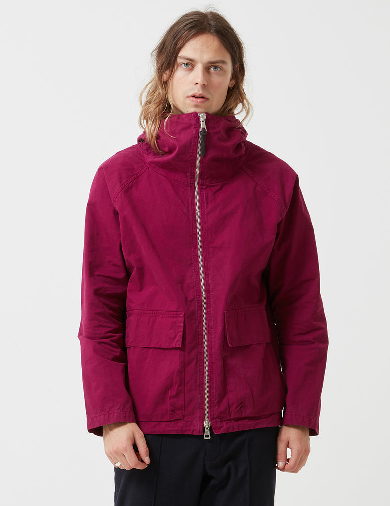 Albam Zipped Hooded Parka - Raspberry Red - Article