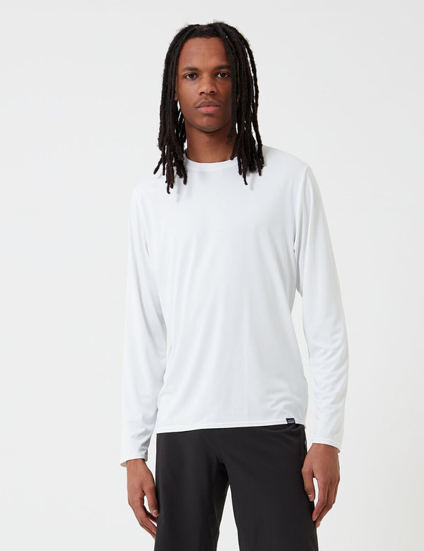 Patagonia Capilene Cool Daily Long-Sleeved Running T-Shirt - White