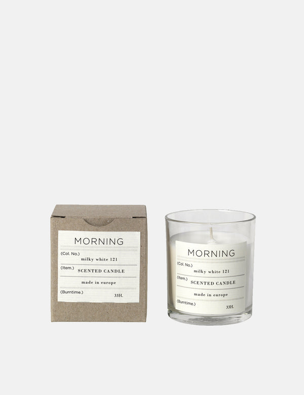 Broste Copenhagen Morning Scented Candle - White