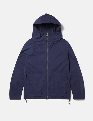 Albam Zipped Hooded Parka - Navy Blue - Article