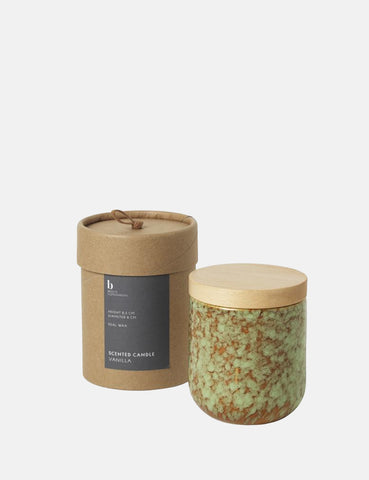 Broste Copenhagen Vanilla Scented Candle - Green/Brown - Article