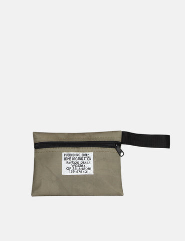 Puebco Laminated Fabric Pouch Short - Olive