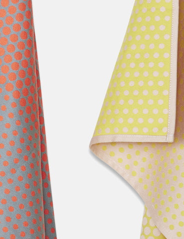 Hay Layer Dots Tea Towel Set - Orange/Curry