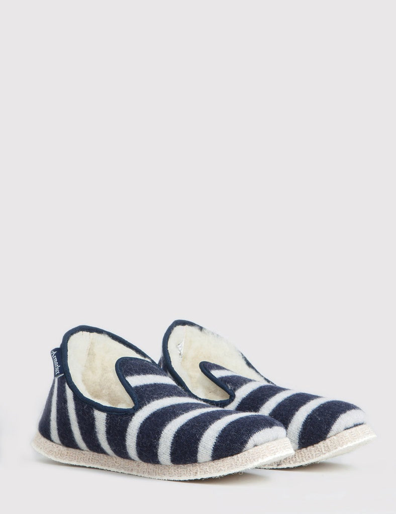 Armor Lux Striped Slippers - Navy Blue/Natural - Article
