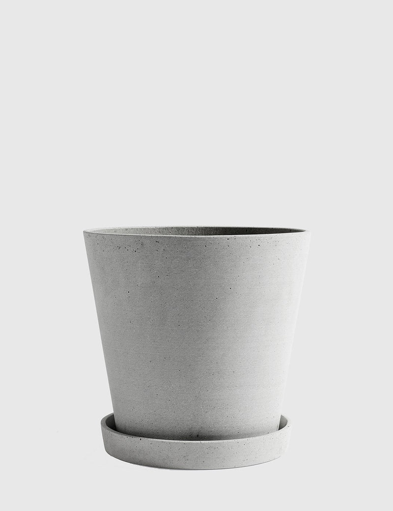 Hay Flower Pot with Saucer XX-Large - Grey