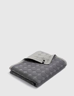 Hay Mega Dot Blanket (245 x 235cm) - Dark Grey