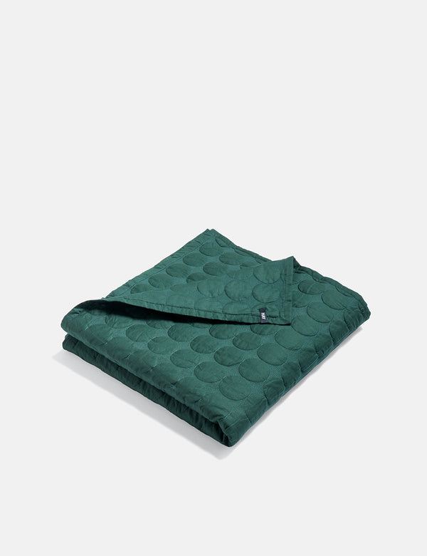 Hay Mega Dot Blanket (235x245) - Dark Green