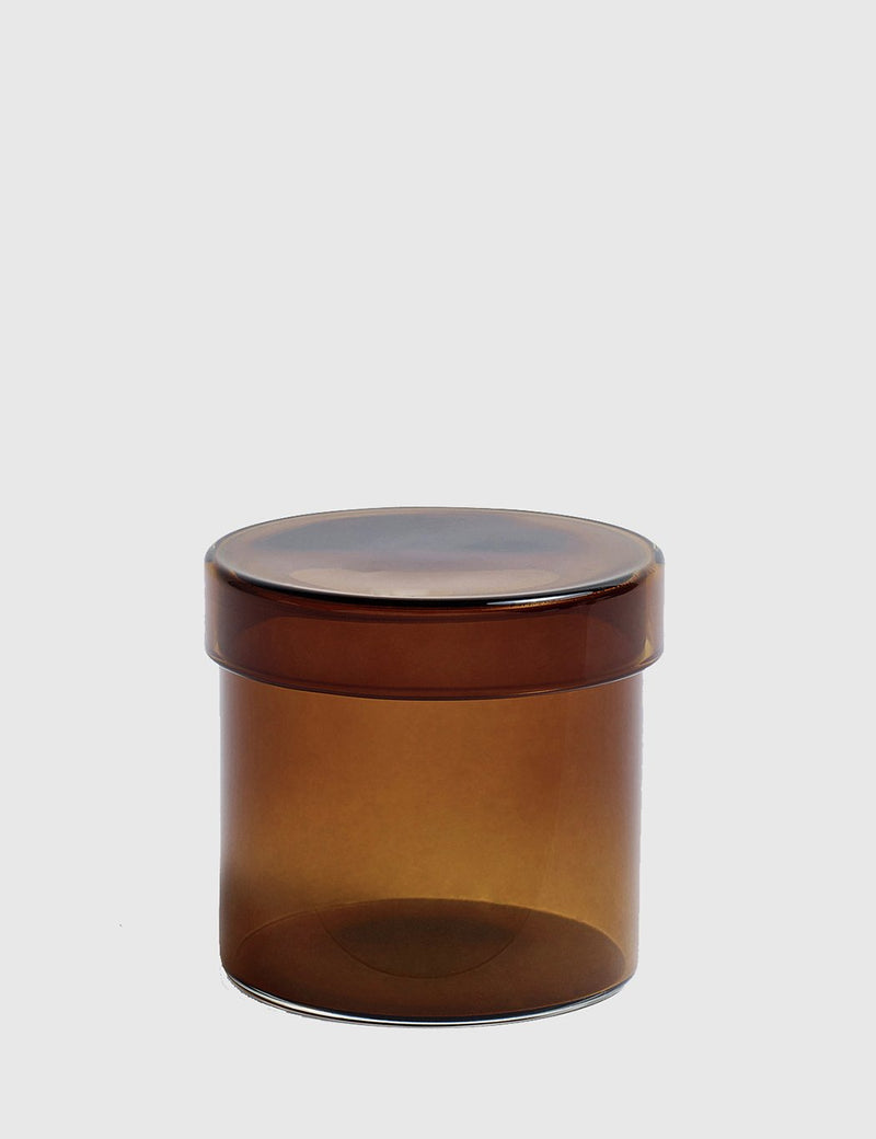 Hay Glass Container Small - Brown