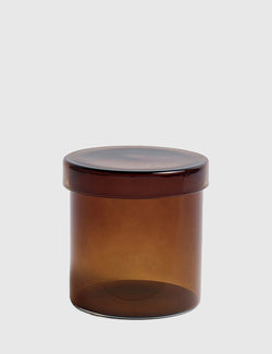 Hay Glass Container Large - Brown