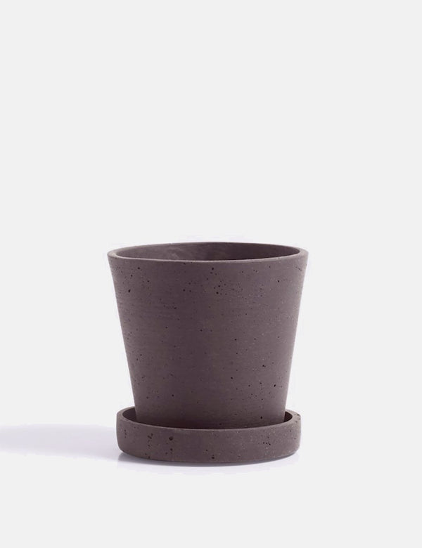 Hay Flower Pot with Saucer (Small) - Plum