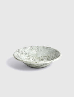 Hay Soft Ice Enamel Deep Plate - Green