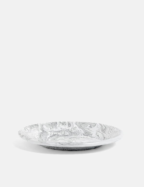 Hay Soft Ice Lunch Plate (Emaille) - Grau