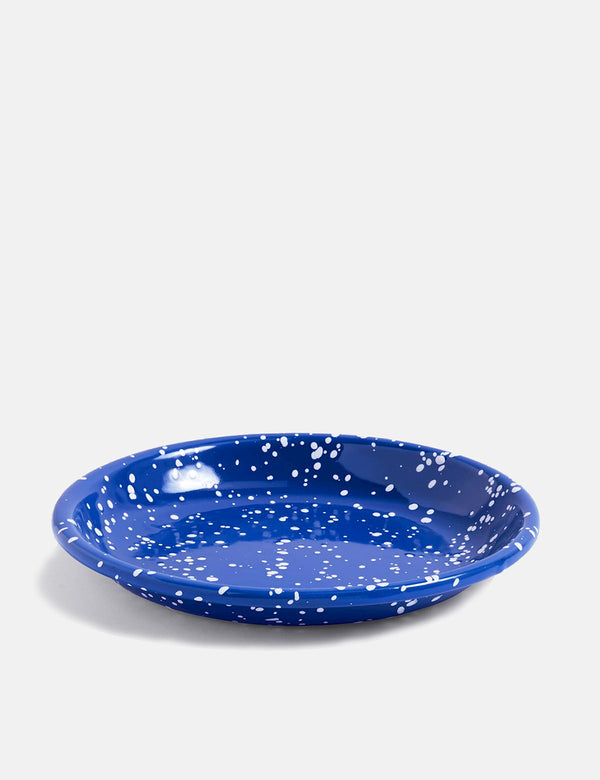 Hay Deep Plate (Emaille) - Speckle Blue