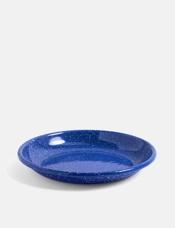 Hay Enamel Deep Plate (Large) - Dust, Blue