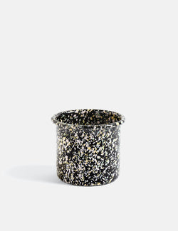Hay Enamel Herb Pot Sprinkle - Black