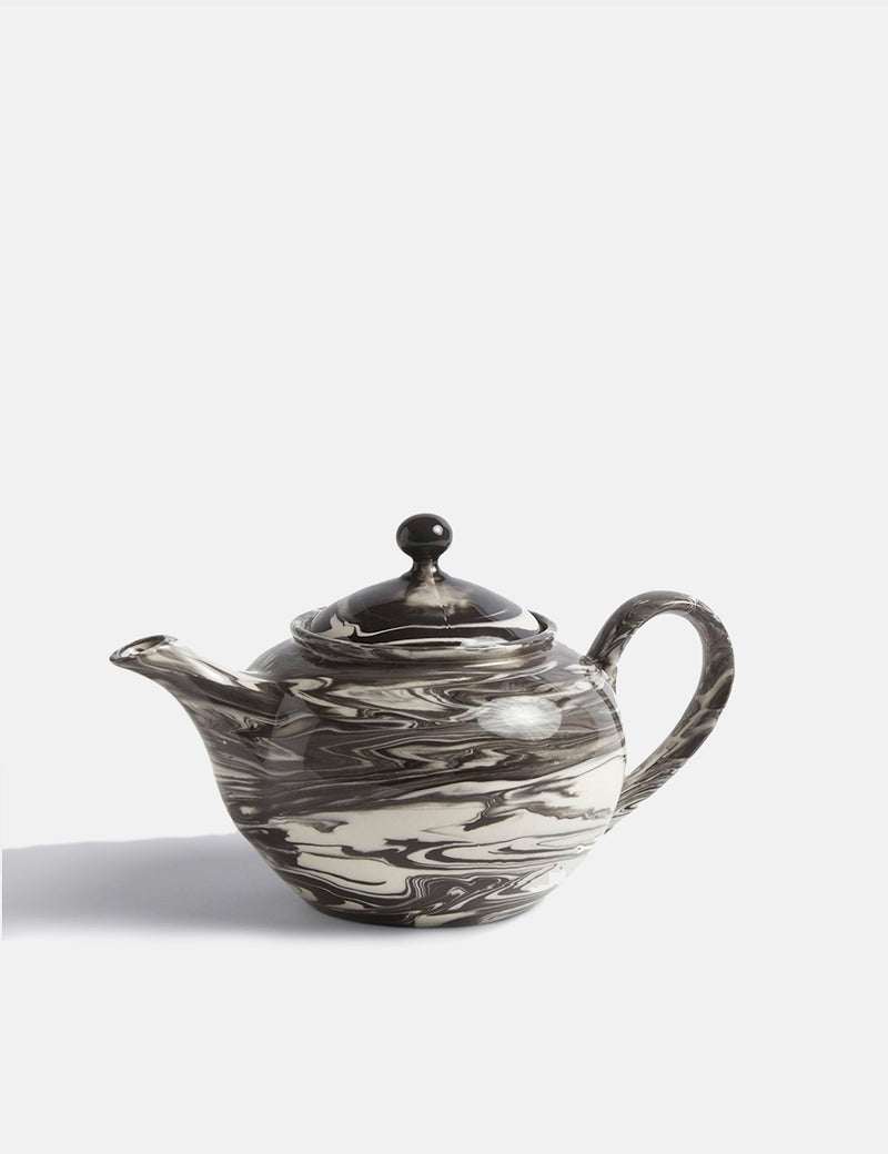 Hay Marbled Teapot (0.8L) - Black