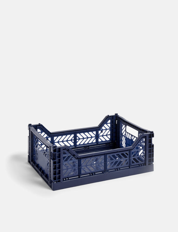 Hay Colour Crate (Medium) - Navy Blue