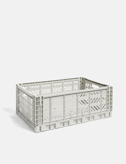 Hay Colour Crate (Large) - Light Grey