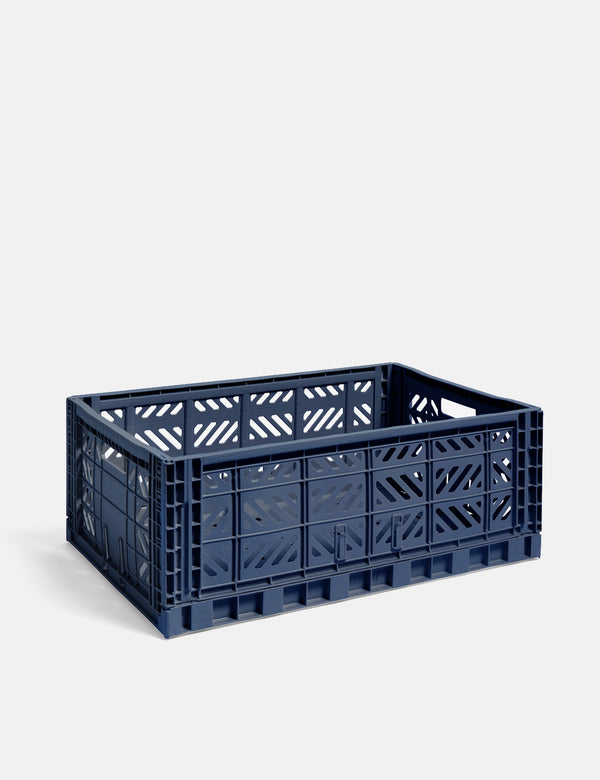 Hay Colour Crate (Large) - Navy Blue