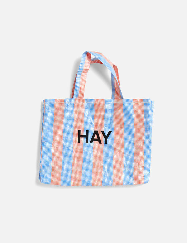 Hay Candy Stripe Shopper (Mittel) - Blau und Orange