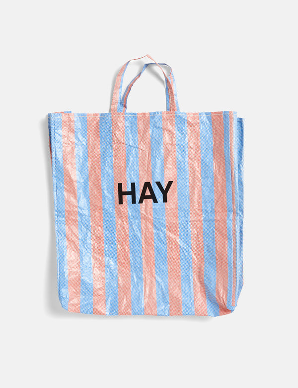Hay Candy Stripe Shopper (X-Large) - Blue and Orange