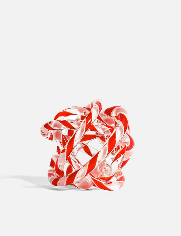 Hay Knot No.2 (Medium) - Red and White