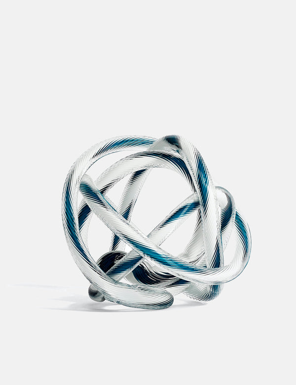Hay Knot No.2 (Large) - Teal and White