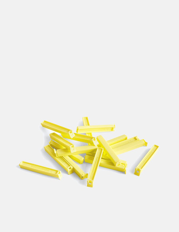 Hay Paquet Clips (18 Pieces) - Yellow