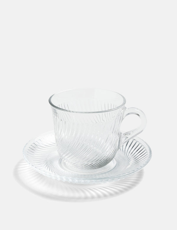 Hay Pirouette Cup and Saucer - Clear