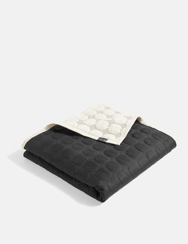Hay Mega Dot Blanket (245 x 195cm) - Black and Cream