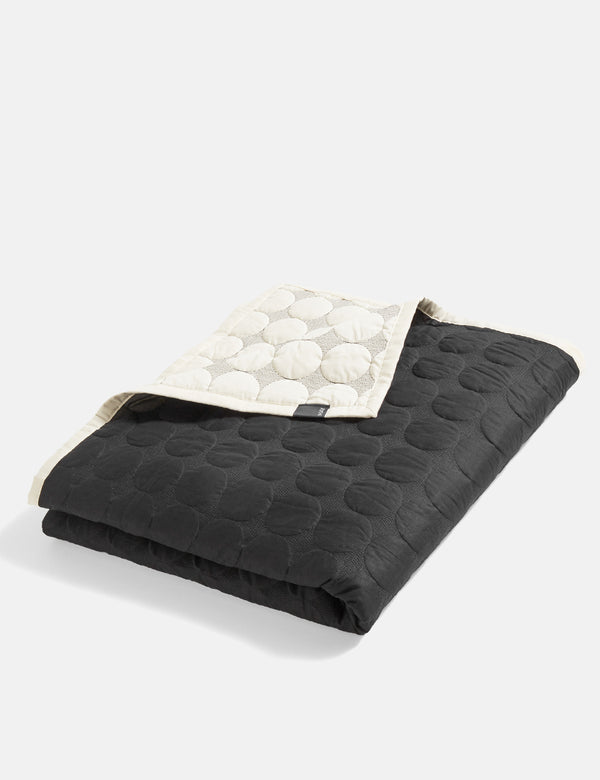 Hay Mega Dot Blanket (235 x 245cm) - Black and Cream