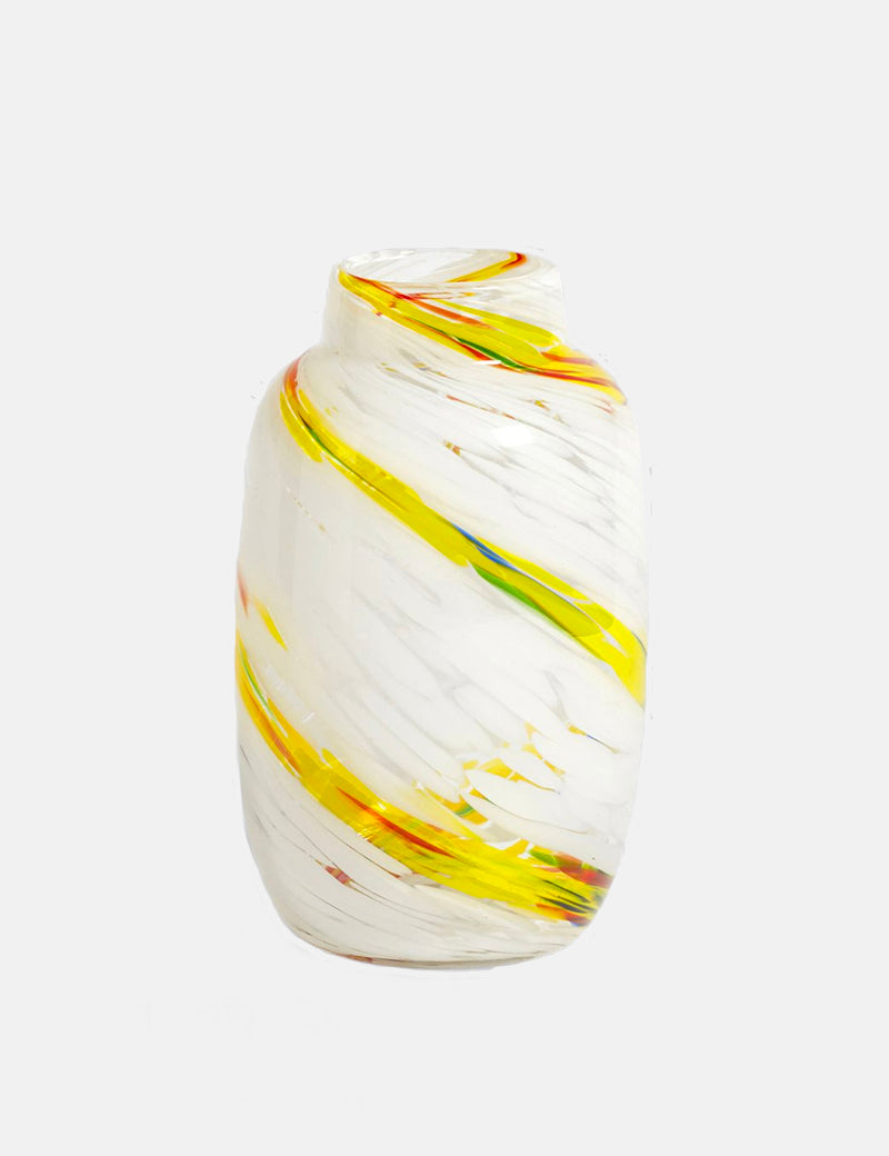 Hay Splash Vase Round (Medium) - Lemon Swirl