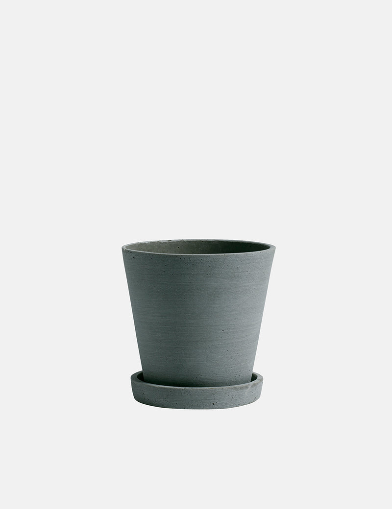 Hay Flowerpot with Saucer (Medium) - Green