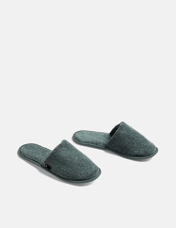Hay Frotté Slippers - Dark Green