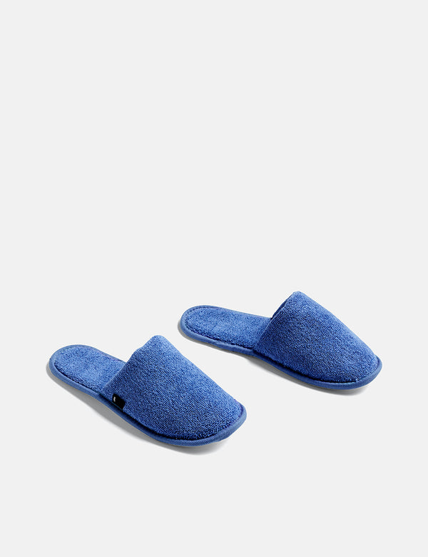 Hay Frotté Slippers - Blue
