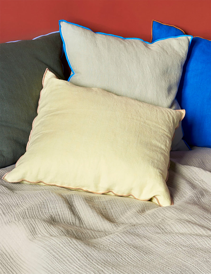 Hay Outline Cushion - Grey Blue