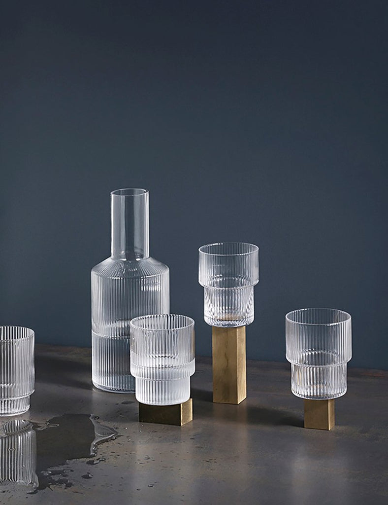 Ferm Living Ripple Glass (Set of 4) - Clear