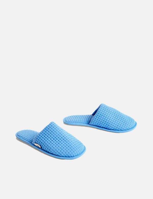 Hay Waffle Slippers - Sky Blue