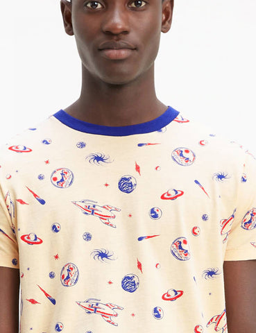 Levis Vintage Clothing Spaced All Over Creme Brulee Graphic T-Shirt - Ecru