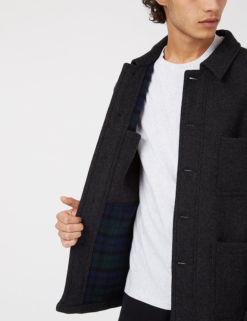 Vetra Workwear Double Wool Jacket - Anthracite
