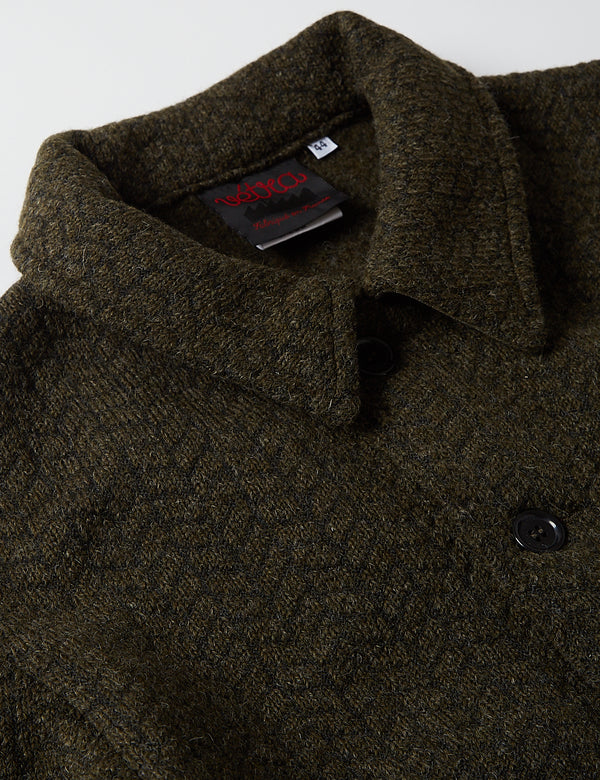 Vetra Workwear Soft Melton Wool Jacket - Olive