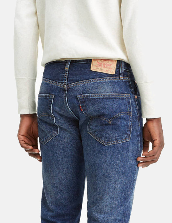 Levis Vintage Kleidung 1967 505 Jeans - Cosmos Blue